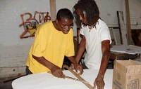 photo of youth creating artwork at YA/YA