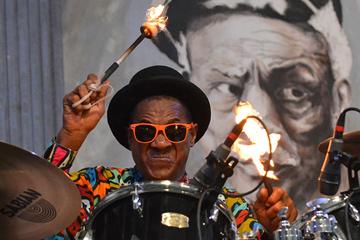 Flaming drumsticks
