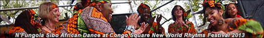 Dancers at Congo Sq Rhythms Fest