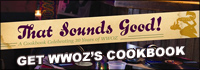 WWOZ cookbook titled That Sounds Good