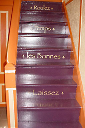 decorated stairs