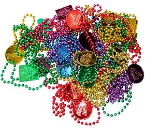 photo of Mardi Gras beads