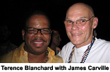 photo of Terence Blanchard with James Carville