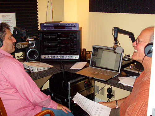 WWOZ show hosts David Torkanowsky and Rob Weiss