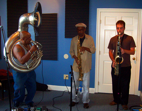 Kirk Joseph, Aumra Frezel and Matt Thomas