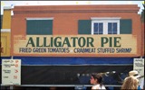 Jazz Fest food booth selling Alligator Pie