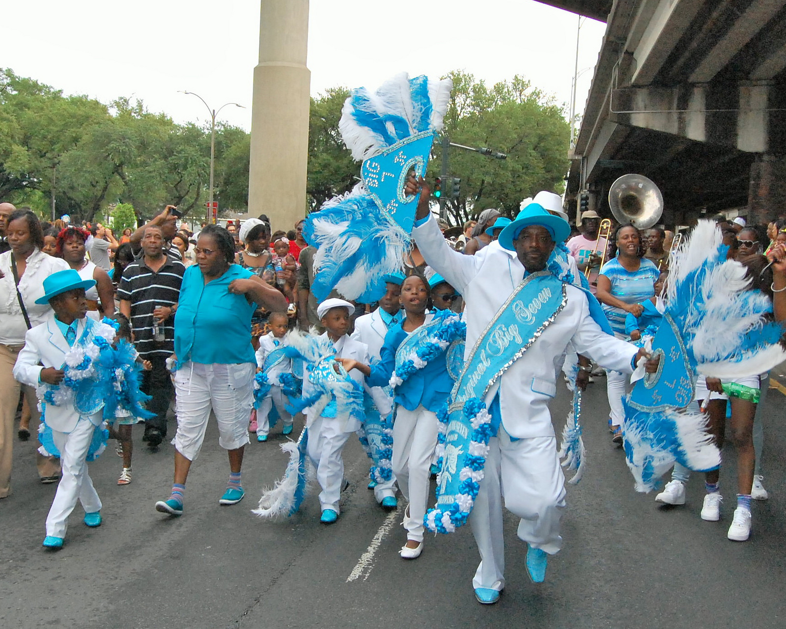 original big seven second line parade