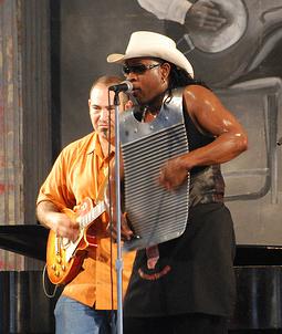 Rockin' Dopsie, Jr., with Marc Stone