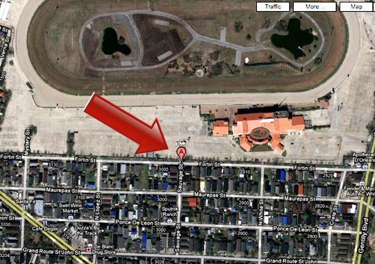 Map of Sauvage St. Entrance at Jazz Fest