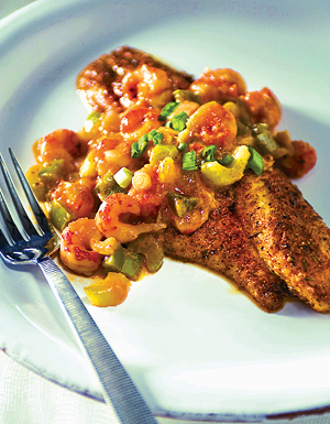 Photo of Blackened Catfish with Crawfish Étoufée