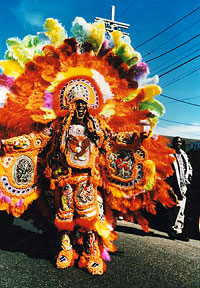 photo of Big Chief Bo Dollis by Leni Sinclair