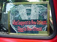 'What happens in New Orleans STAYS in New Orleans' sign