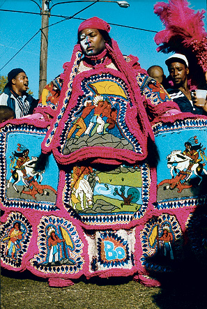 Photo of Big Chief Bo of the Young Cheyenne by Leni Sinclair