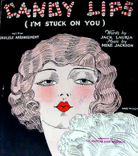 "sheet music cover for ""Candy Lips"""