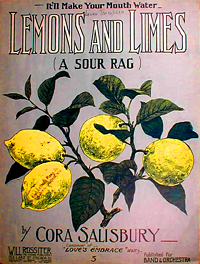 "sheet music cover for ""Lemons and Limes"""