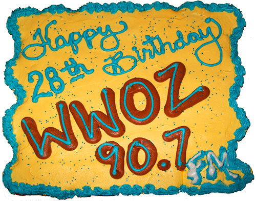 photo of WWOZ birthday cake