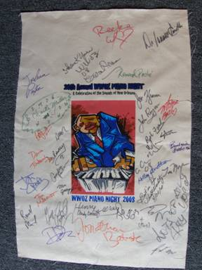 Signed Piano Night Banner