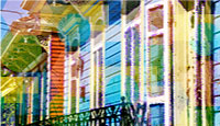 stylized photo of New Orleans houses