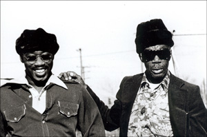 Photo of Jesse Hill & Professor Longhair by Leni Sinclair