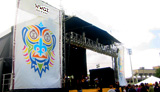 photo of WWOZ stage at Voodoo Fest