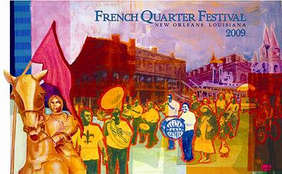 French Quarter Festival poster