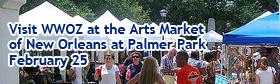 WWOZ at the Palmer Park Arts Market: February 25