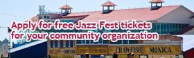 Jazz Fest Community Outreach Tickets