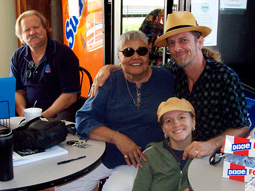 WWOZ show host Big D, Betty Schlater and Melissa and Matt DeOrazio