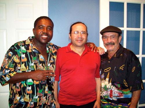 Pepe Coloma, Pupi Menes and Edwin Gonzalez of Sorongo