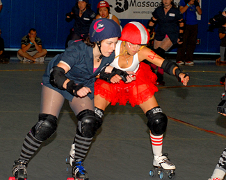 photo of the Big Easy Roller Girls