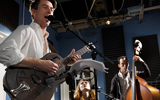 Luke Winslow-King with Esther Rose and Cassidy Holden at WWOZ, by Ryan Hodgson-R