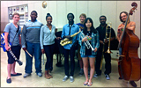 Armstrong Jazz Camp students
