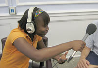 Youth radio reporter Kadija Garner
