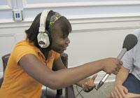 Youth radio reporter Kadija Garner