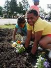 photo of young gardeners