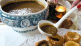 Mamere's Brown Oyster Stew in Pastry Shells