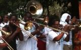 TBC brass band plays en route to Satchmo Fest 2012. Photo by Melanie Merz.