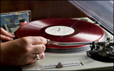 Vinyl LP on a turntable