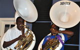 Warren Easton students with tubas