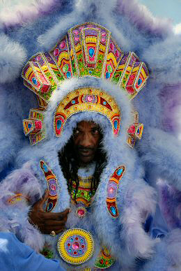 Big Chief Darryl Montana of the Yellow Pocahontas