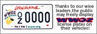 WWOZ License Plate