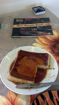 Flan and book
