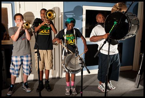 Martin Behrman Charter School band members