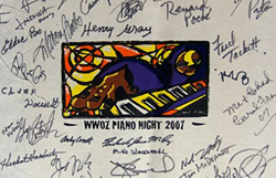 Piano Night memorabilia