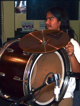 Red Wolf Brass Band drummer