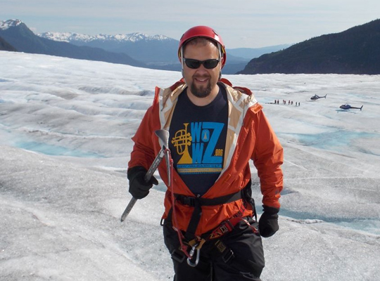 OZilian on a glacier
