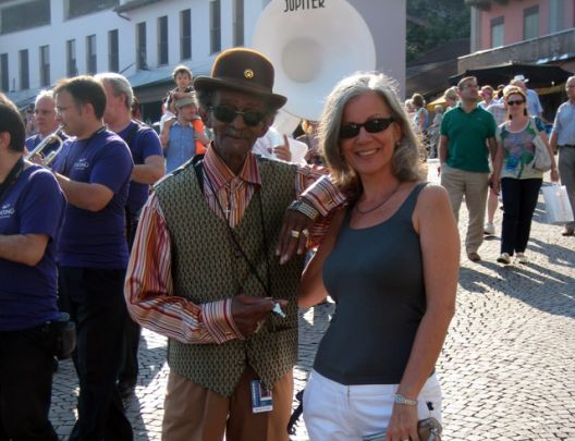 Uncle Lionel Batiste and Sally Young in Ascona
