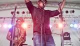 Big Sam of Big Sam's of Funk Nation at Jazz Fest. Photo by Todd Geasland
