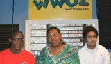 Renaissance Project interns Latrell Davis and Elijah Gray with WWOZ's