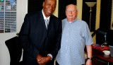 Dave Bartholomew and Cosimo Matassa at WWOZ in 2009